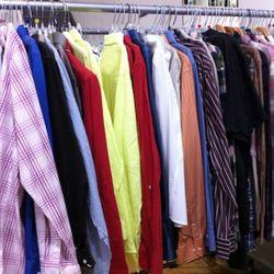 A melange of men's shirting