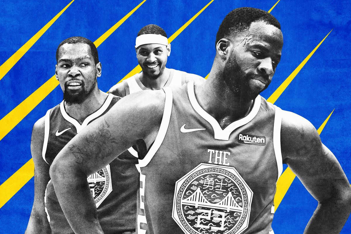 Steph Curry, Kevin Durant, and Draymond Green