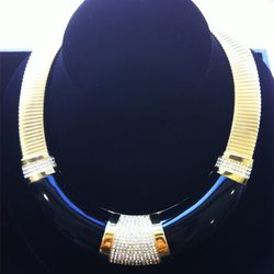 """""""Mod glam. Everything has a bit of a deco influence, combined with that '60s and '70s thing that I can't get out of."""" Sixties Glam Collection necklace, $595"""