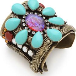 "Cuff bracelet, $150 via <a href=""http://www.shopbop.com/dannijo/"">Shopbop</a>"