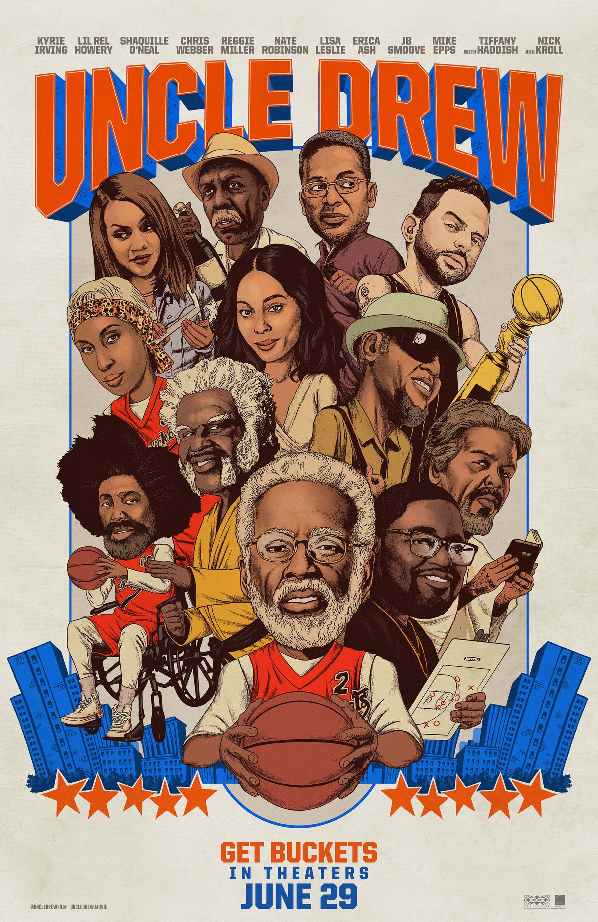 Uncle Drew Will Hit Theaters June 29 2018 If You Like Basketball And Or People In Heavy Makeup Nick Kroll Should Check It Out
