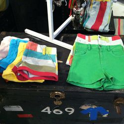 For your festival needs, 5-pocket and hipster shorts ($154).
