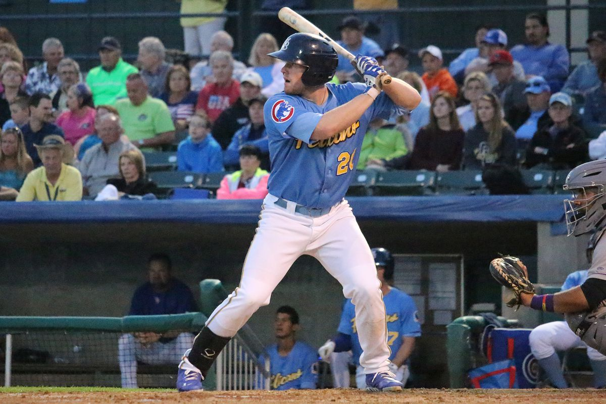 Billy McKinney playing for High-A Myrtle Beach in 2015