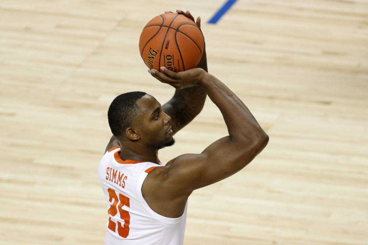 Aamir Simms #25 of the Clemson Tigers attempts a shot during the first half of their second round game against the Miami Hurricanes in the ACC Men's Basketball Tournament at Greensboro Coliseum on March 10, 2021 in Greensboro, North Carolina.