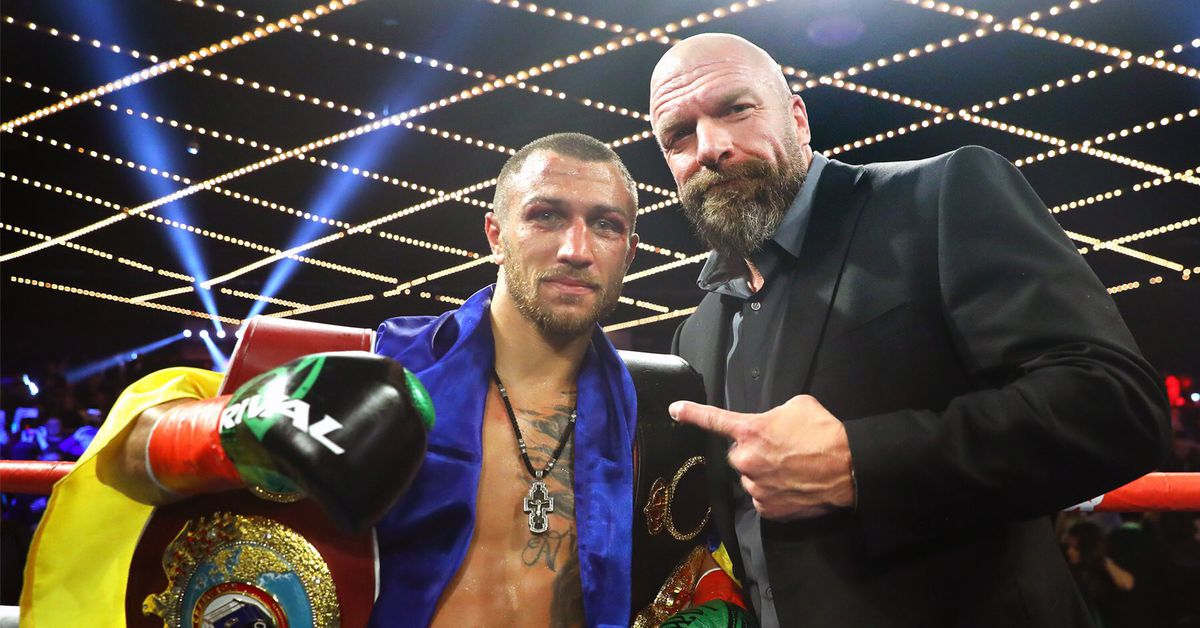 Vasiliy Lomachenko gets 'NXT photo' treatment from WWE's Triple H