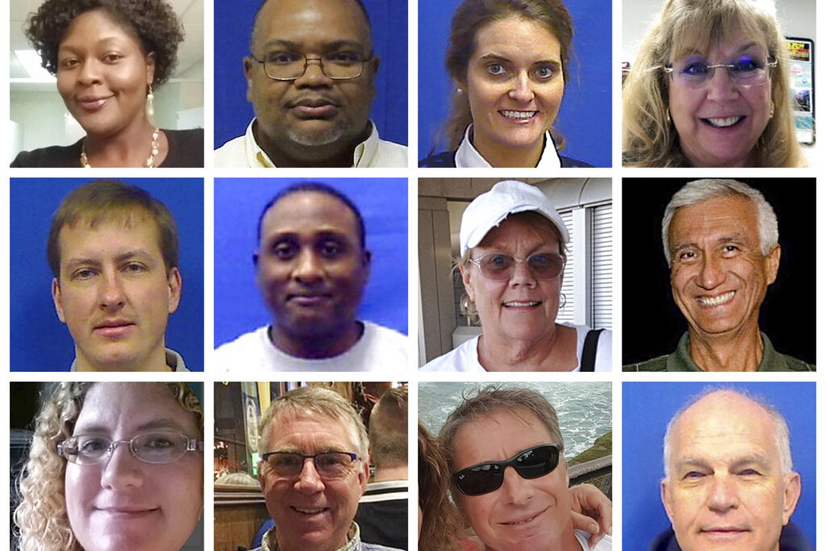 A photo collage of the victims of the 2019 Virginia Beach shooting