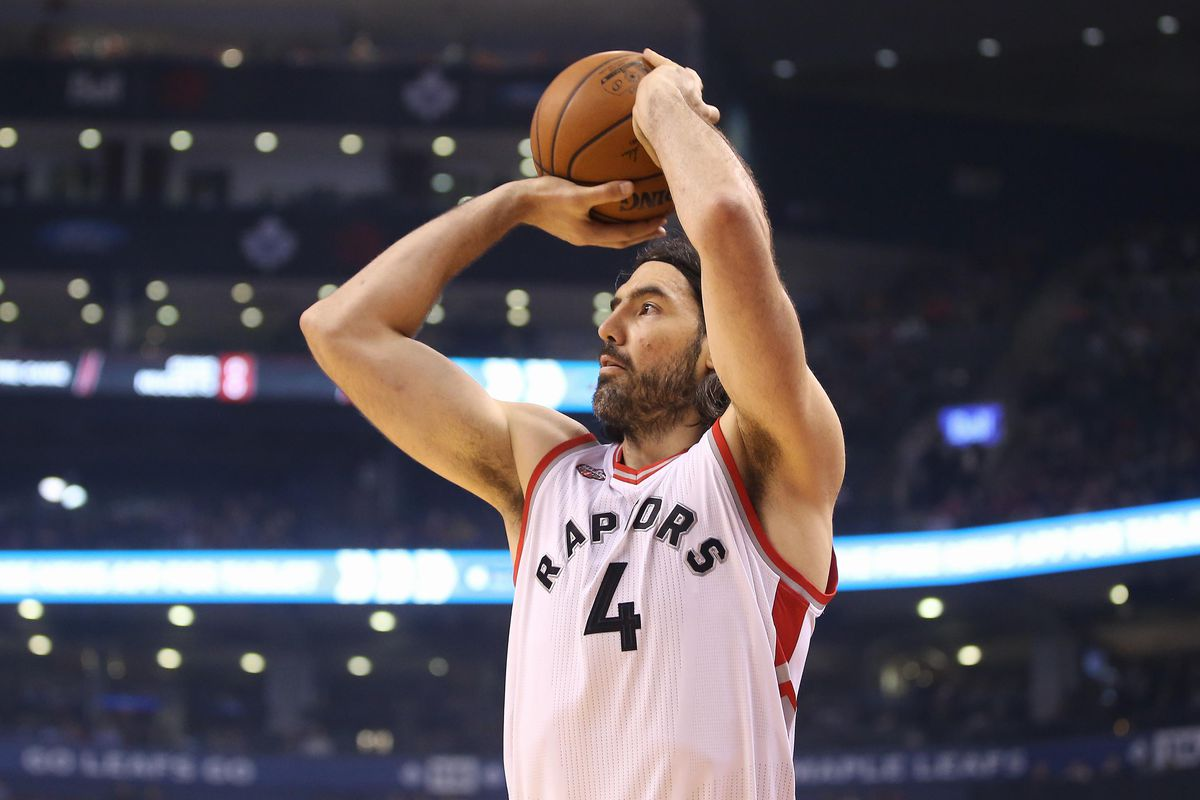 Luis Scola rises up to shoot.