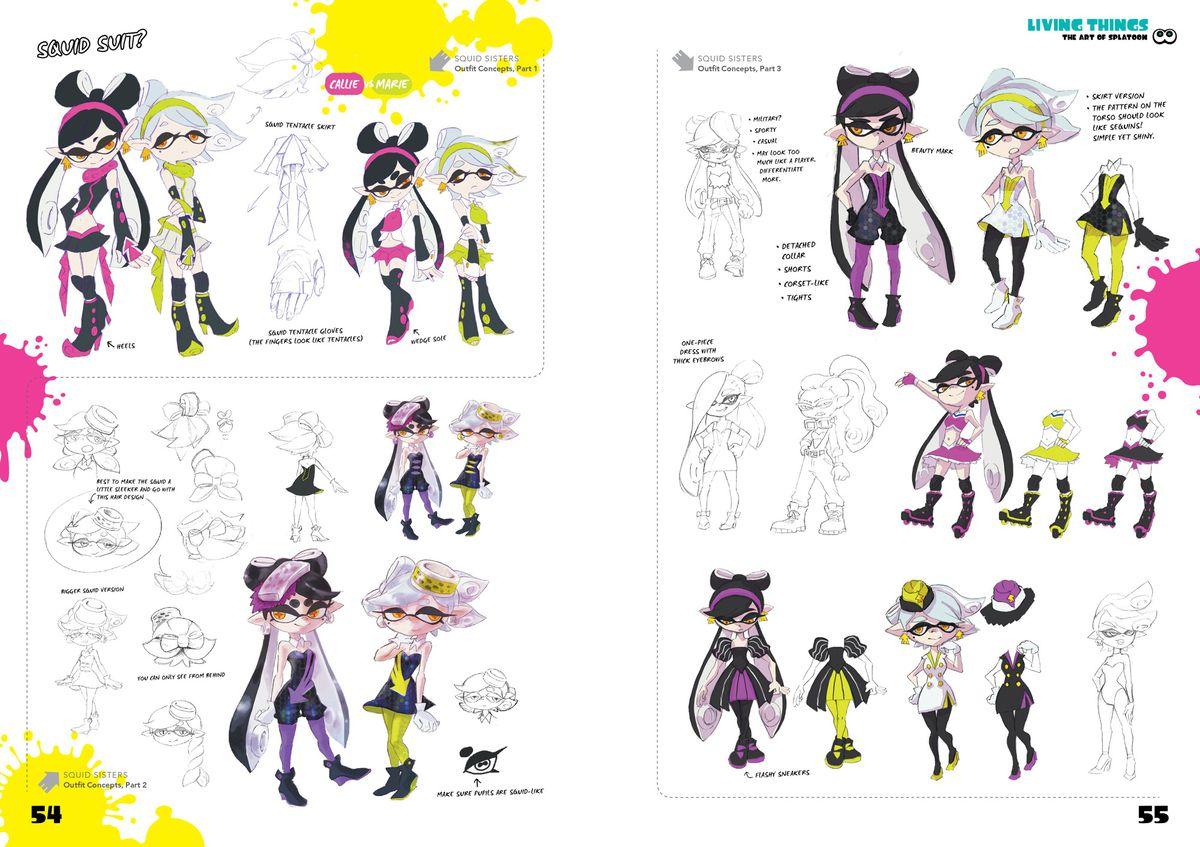 squid sister concept art