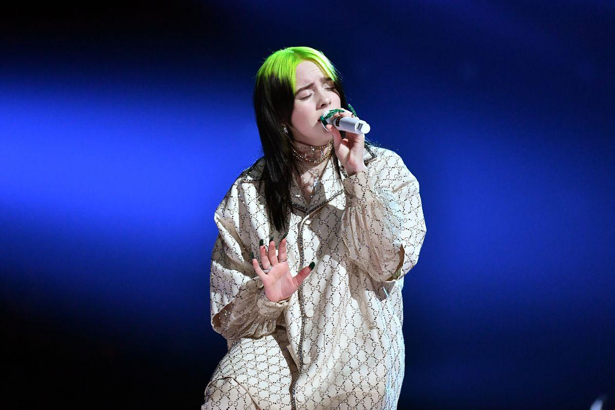 Billie Eilish at the Grammys.