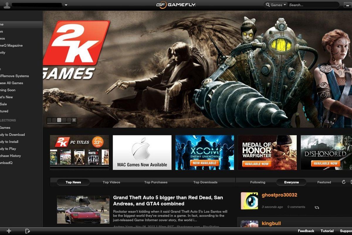 gamefly client screenshot