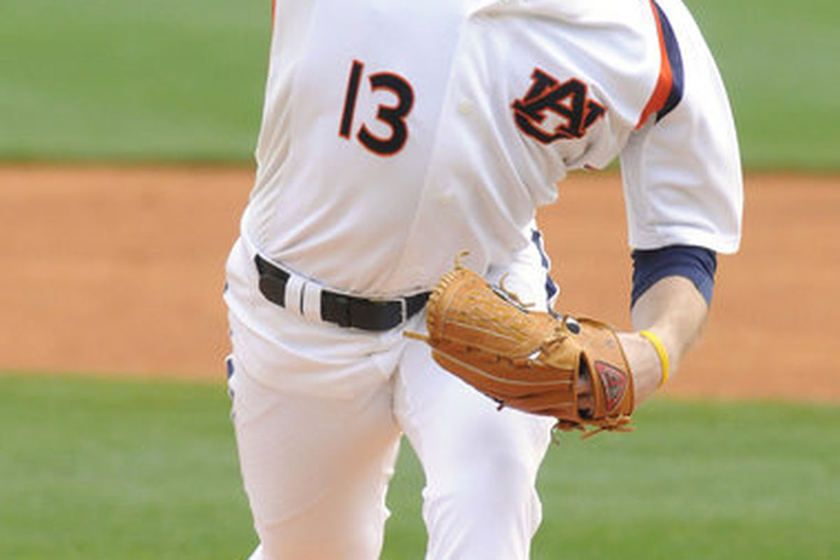Auburn pitching sensation Derek Varnadore was named the SEC Pitcher of the Week for his 2-hit shutout of Radford University in a NCAA Baseball game in Auburn, Ala. Februiary 27, 2010. Auburn won the series by defeating Radford 2-0 in the final game.