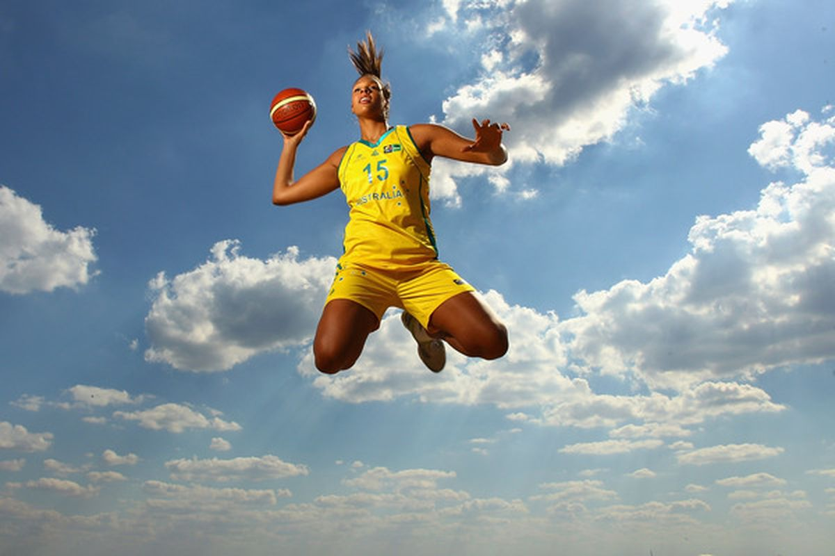 <em>MELBOURNE, AUSTRALIA - MARCH 29:  Australian basketball player Liz Cambage poses during a portrait shoot at St Kilda Beach on March 29, 2011 in Melbourne, Australia.  (Photo by Quinn Rooney/Getty Images)</em>