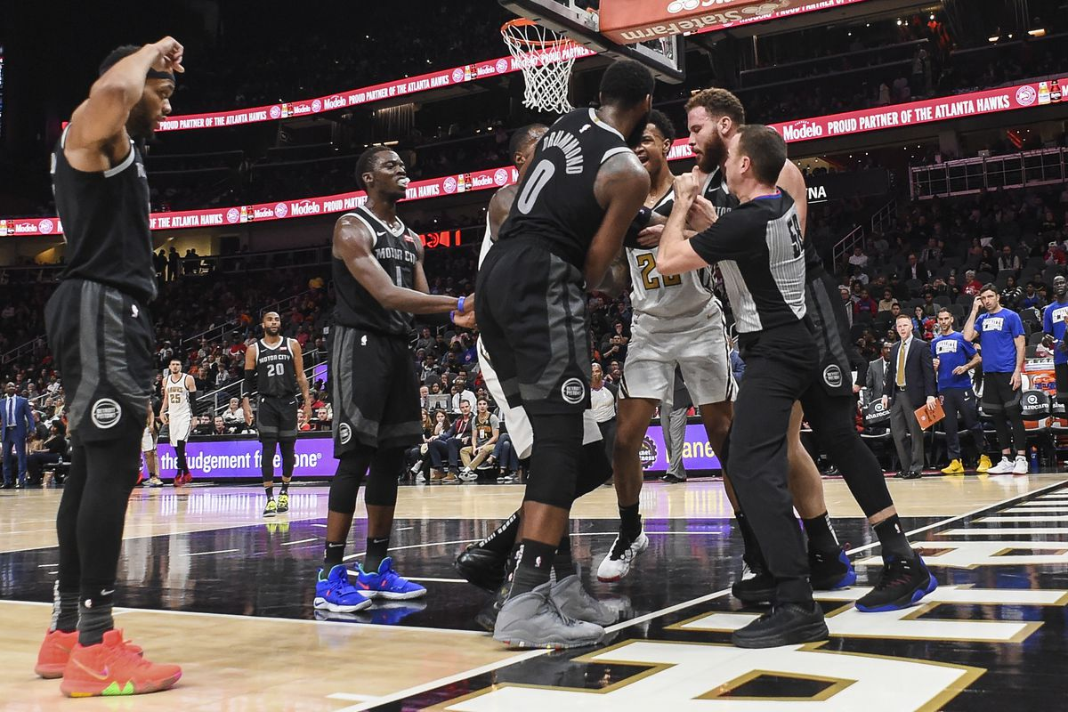 b37c356010f Hawks unable to overcome Pistons in heated affair - Peachtree Hoops