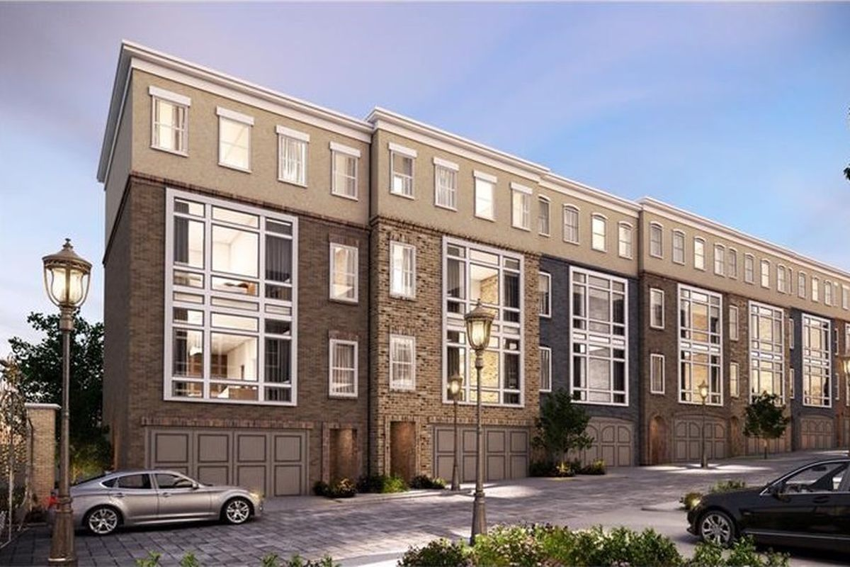 A rendering of a new townhouse development off Lenox Road in Buckhead.