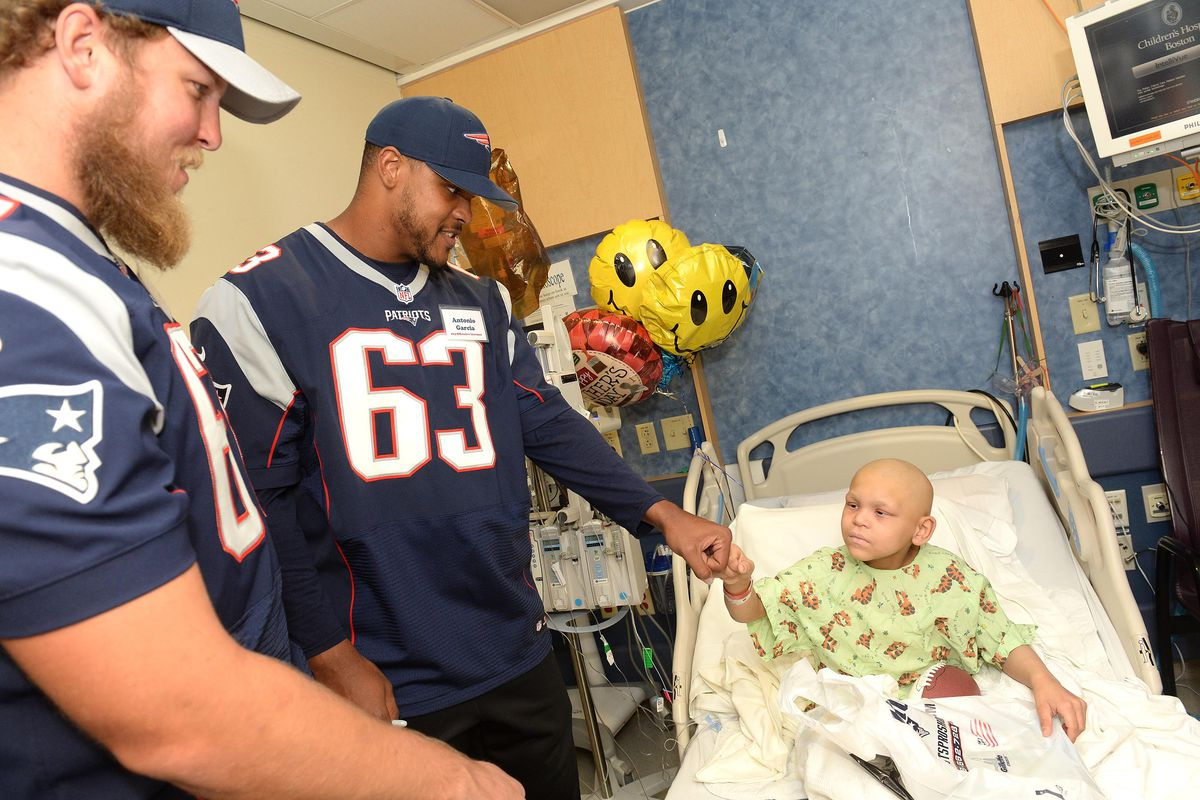 New England Patriots Rookies Bring Smiles and Laughter to Boston Children's Hospital