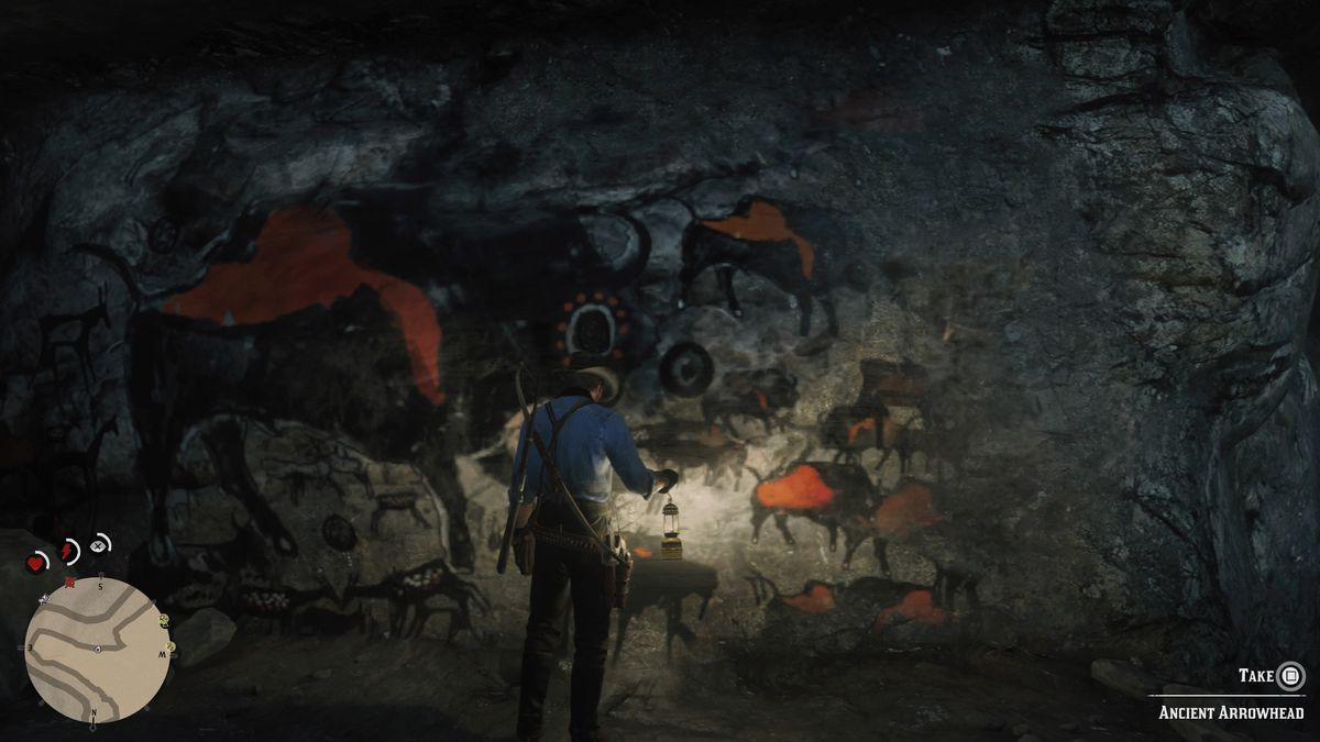 Red Dead Redemption 2 cave paintings