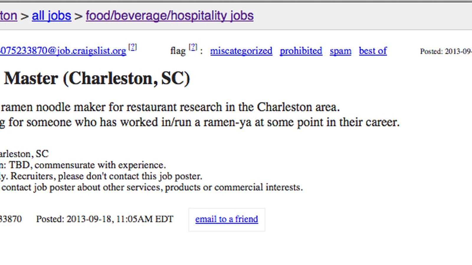 Ramen Trend To Hit Charleston Eater Charleston