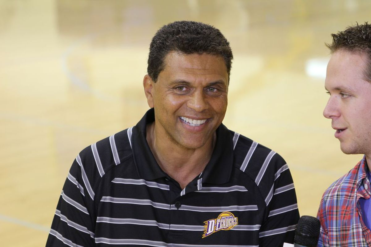 Los Angeles D-Fenders head coach Reggie Theus