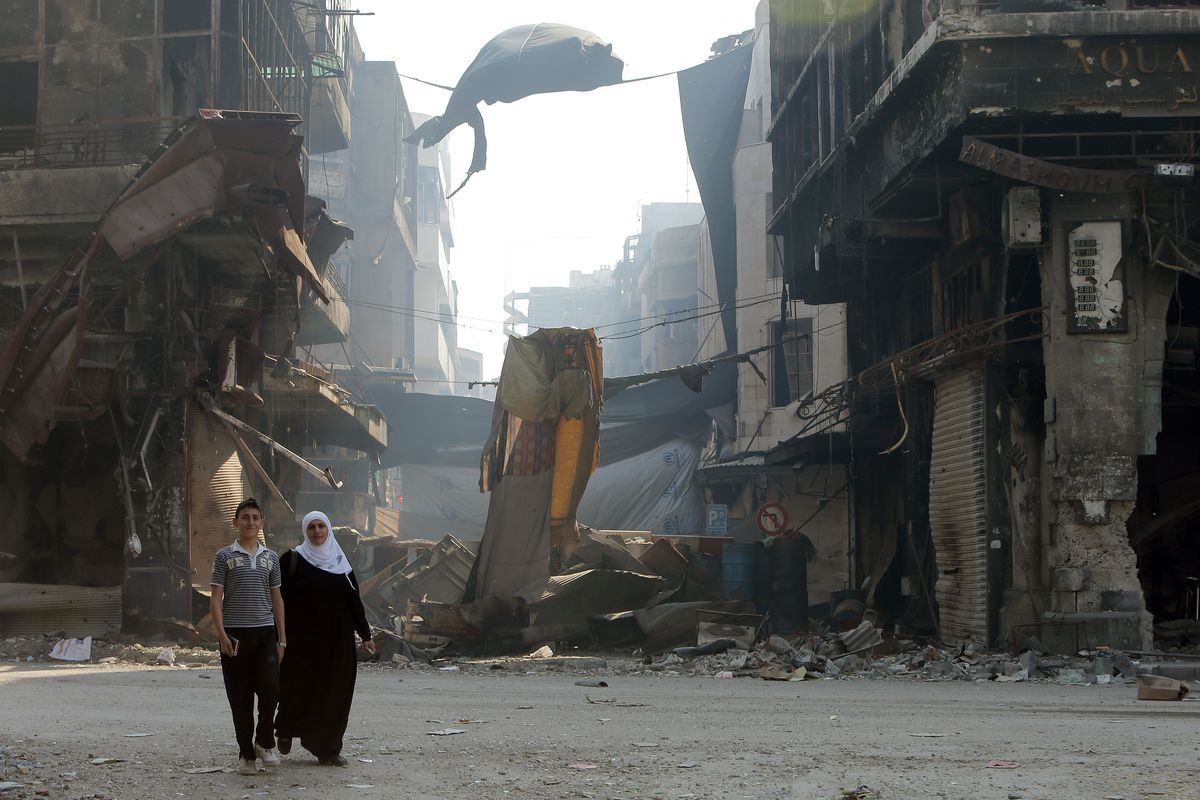 Syrians in Homs.