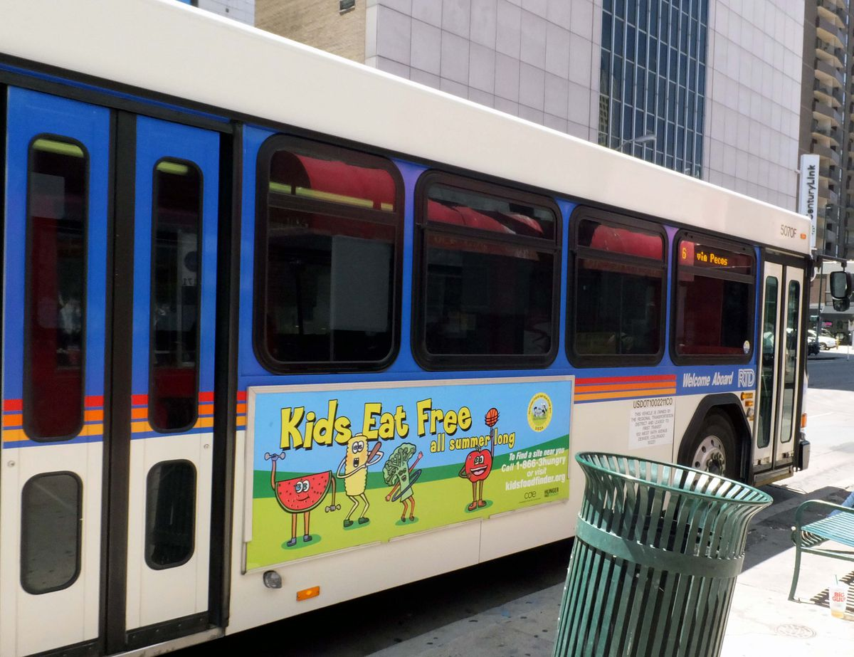 The Colorado Department of Education is advertising the summer meals program on city buses.