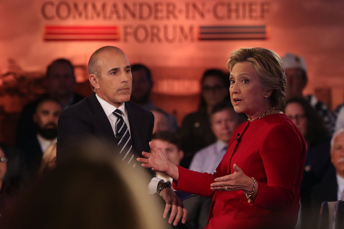 Democratic Presidential Nominee Hillary Clinton Takes Part In Candidate Forum In New York