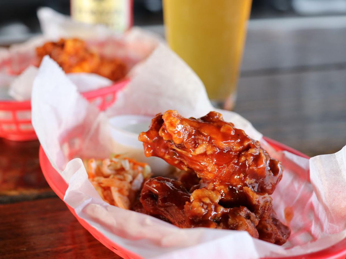 Chicken wings from Black Sheep Lodge