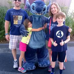 Matthew and Jessica Daitch with Ivy, 9, Logan, 11, and Stitch at Disney World. The family plays hard and works hard, but the Charlotte, N.C., couple say it's important to let children figure some things out on their own and for them to do their own schoolwork.