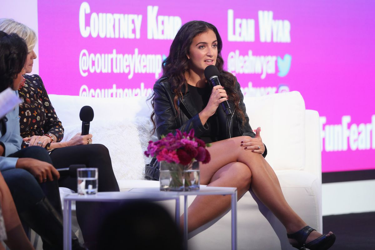 Rent the Runway CEO Jennifer Hyman speaks onstage during the Cosmopolitan Fun Fearless Money event 2016