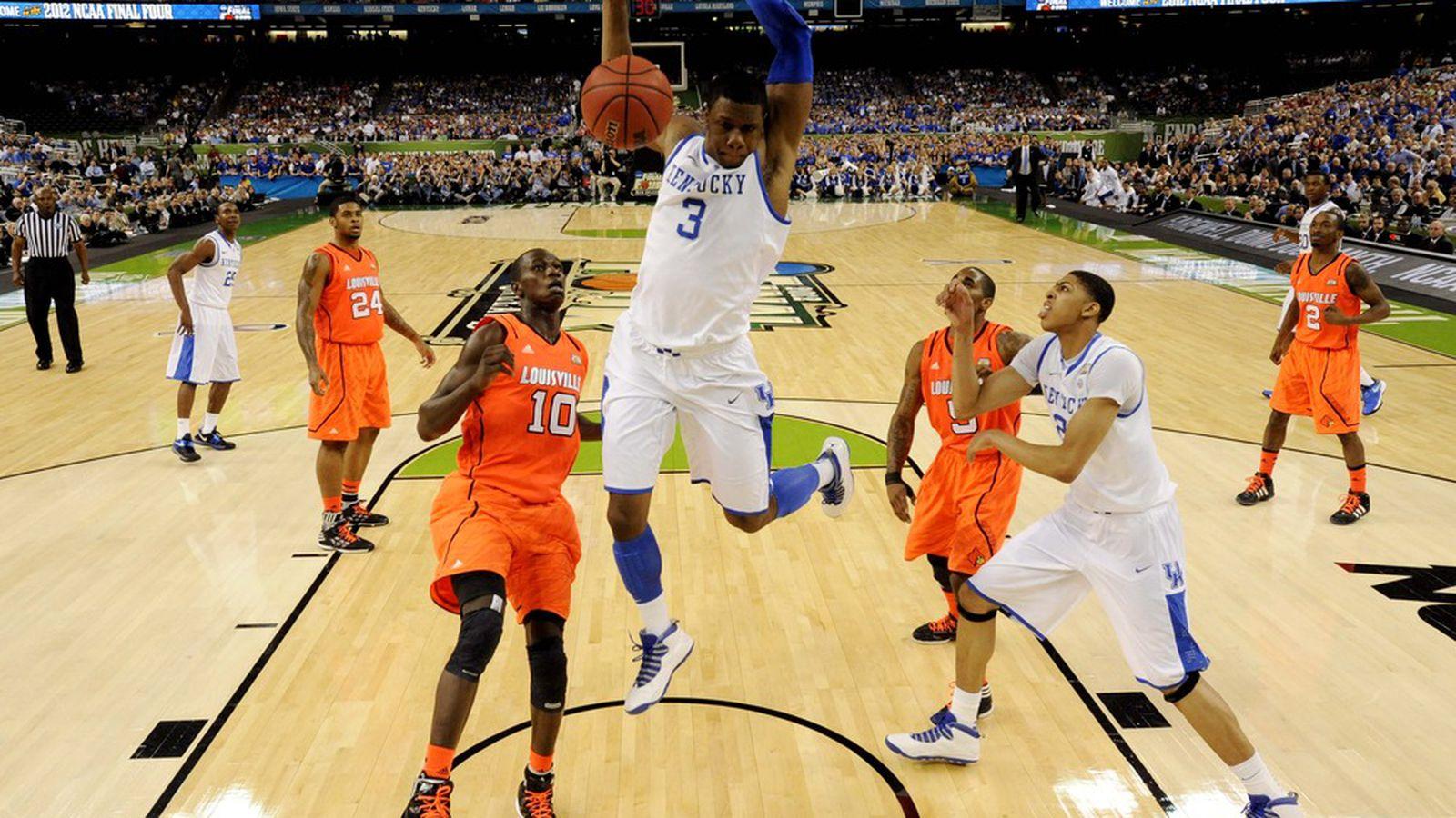 NCAA Bracket 2012: Kentucky, Kansas Advance to National ...