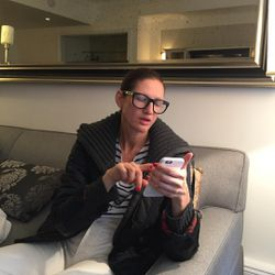 """Jenna Lyons making """"exec decisions"""" with her date for tonight, Lena Dunham."""