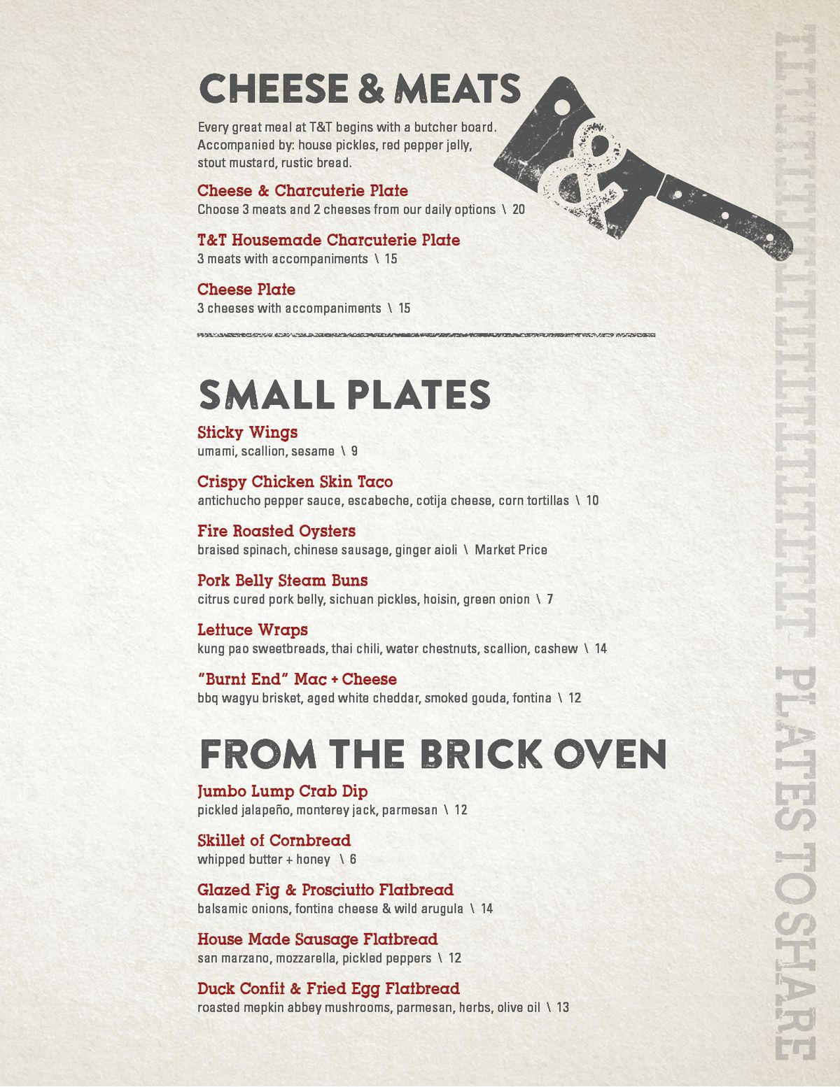 Shem Creeks Tavern Table Released Menu Complete With From The - Table 24 menu