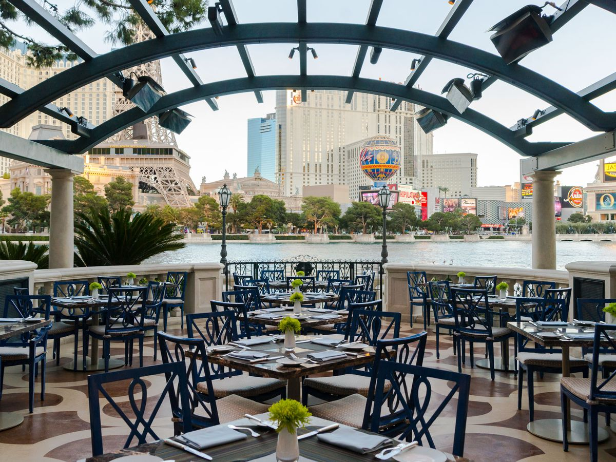 The patio at Prime Steakhouse