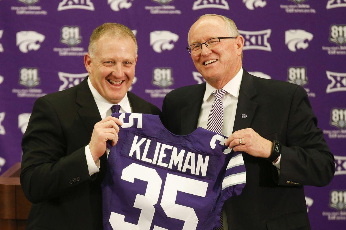 Chris Klieman greets K-State football players with fiery speech
