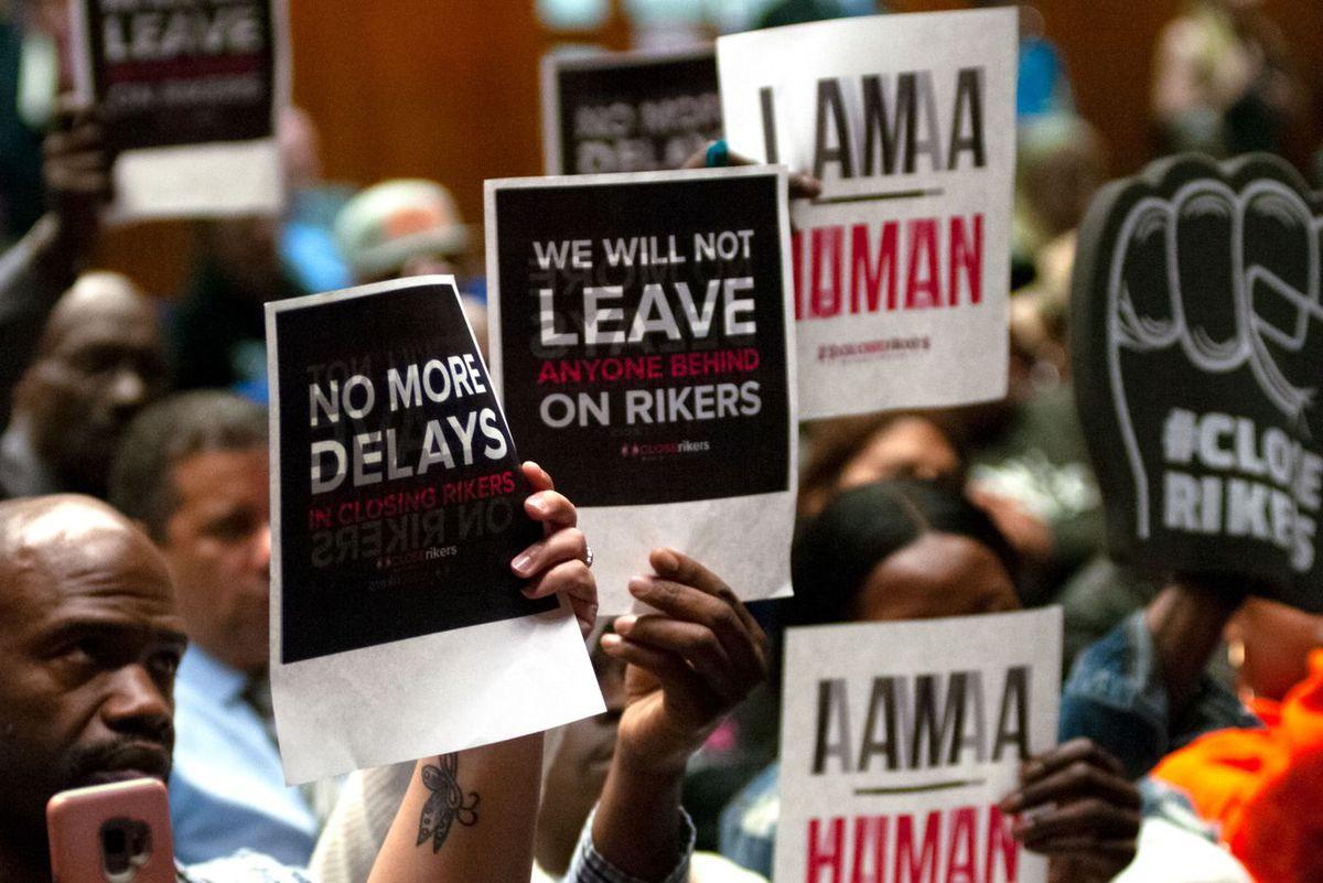 Rikers Jail Closing Meeting