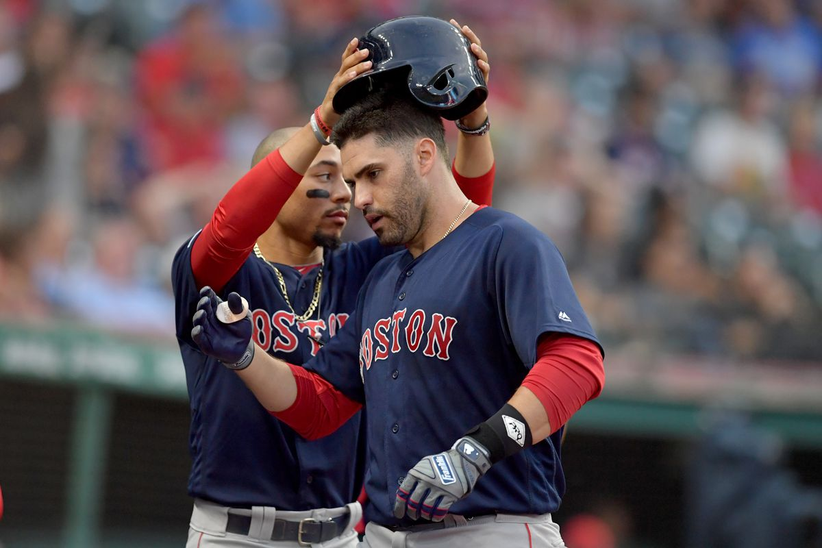 I'm glad J.D. Martinez is back with the Boston Red Sox