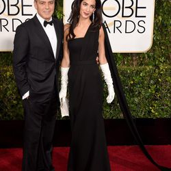 George Clooney and Amal Clooney in Dior.