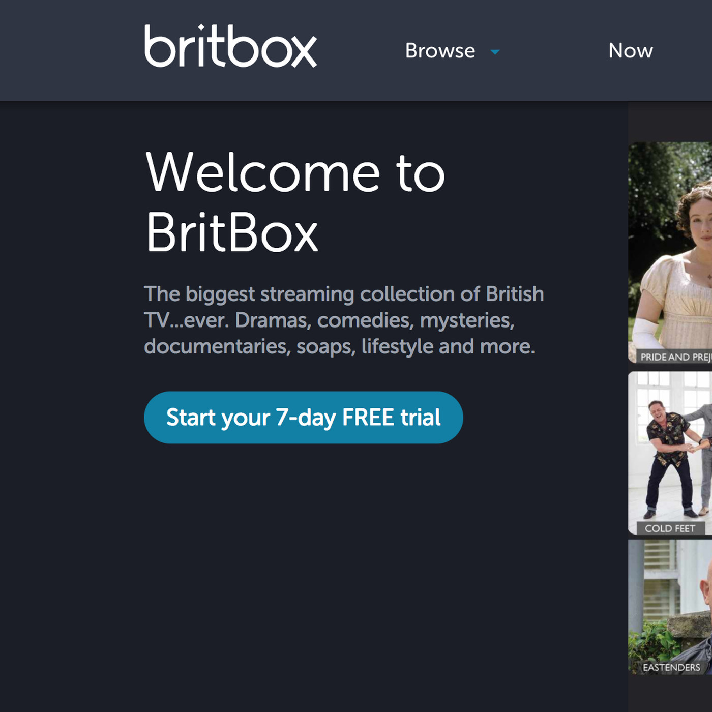 BritBox, a streaming service for British TV from BBC and ITV