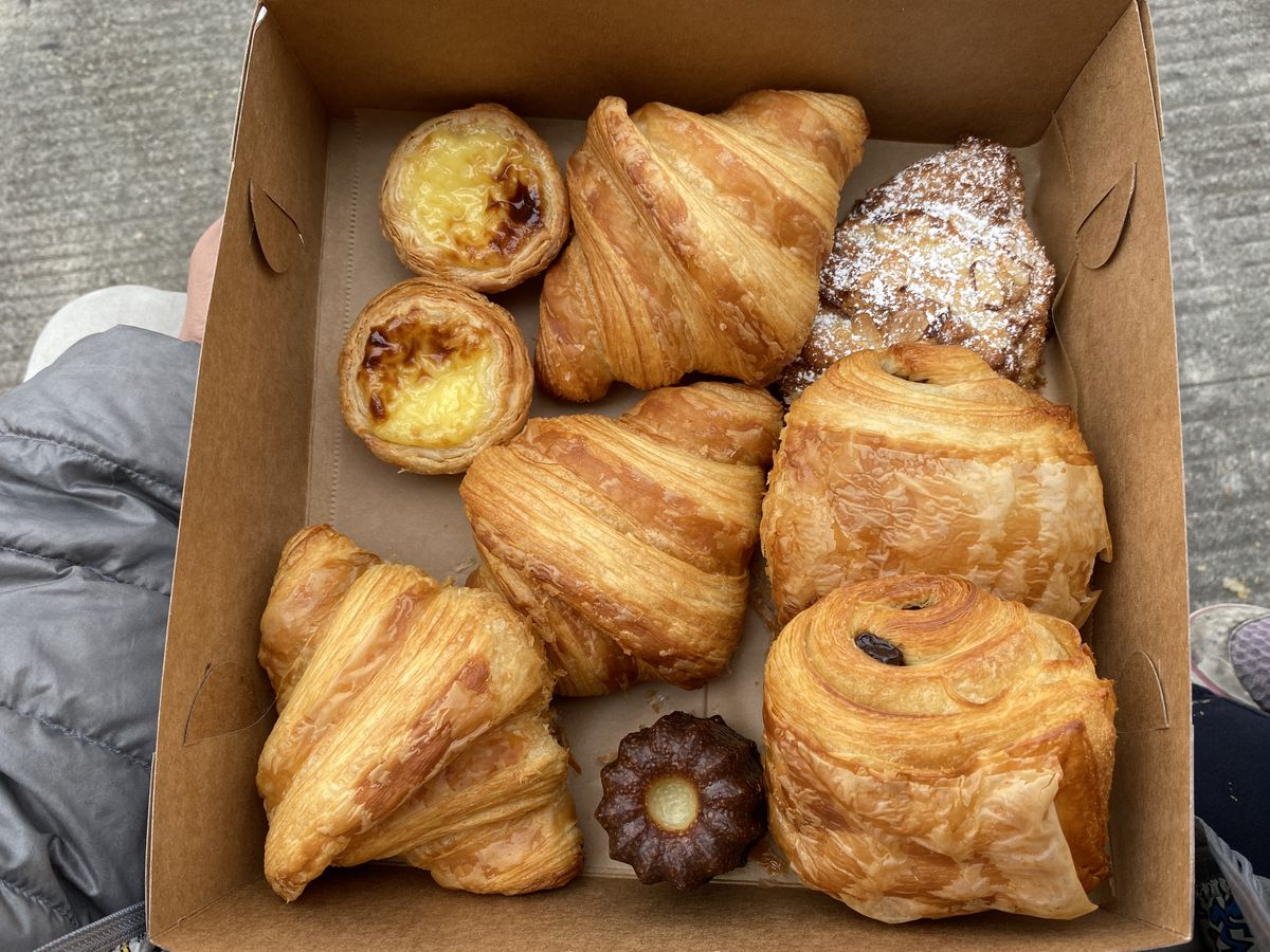 box of croissants from Patisserie Rotha