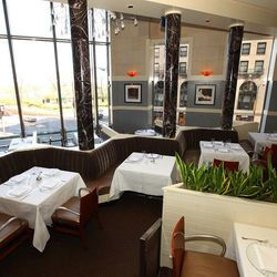 With a history of great chefs led by Tony Mantuano and a gorgeous striking view looking out over Michigan Avenue and the lake, Spiaggia, with its tiered room, marble columns and dramatic wine cave towering above it all, is one of Chicago's most beloved la