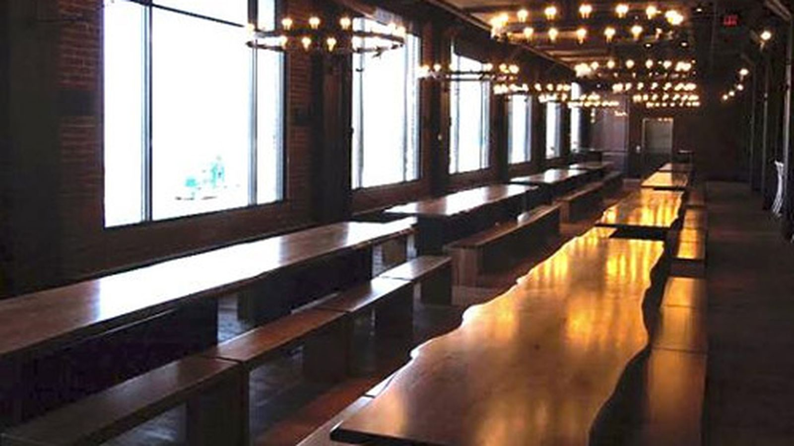 Harpoon Brewery Beer Hall Now Open Eater Boston
