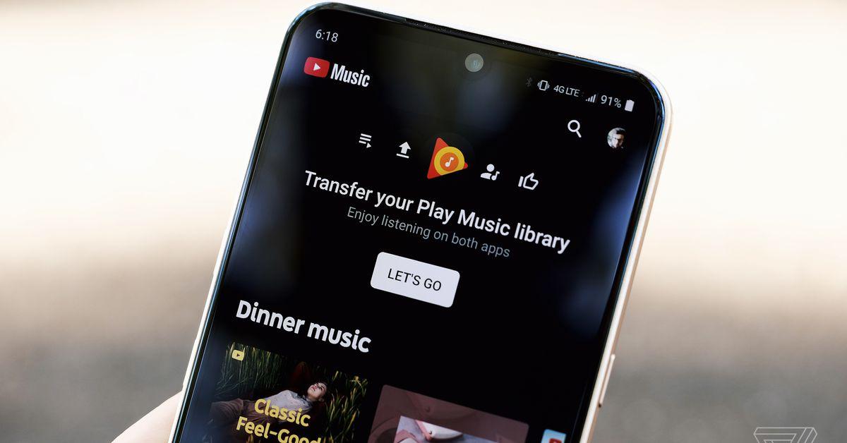 Google Play Music will begin shutting down in September