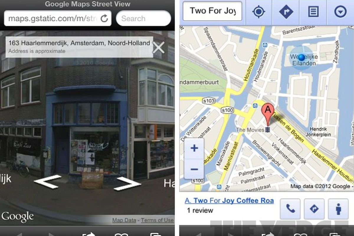 google maps street view now live in ios web app the verge. Black Bedroom Furniture Sets. Home Design Ideas