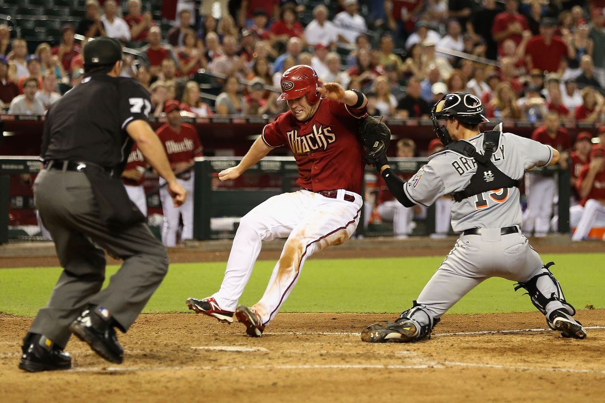 For a brief moment, Aaron Hill forgot how to slide.