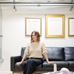 <b>Lauren Oliveira</b>, Client Account Representative, wearing Manolo Blahnik slingback pumps (from TRR), Donna Karan trousers, and an H&M sweater<br><br> <b>What is your worst shopping habit?</b><br>   Going for the same things over and over.  My close