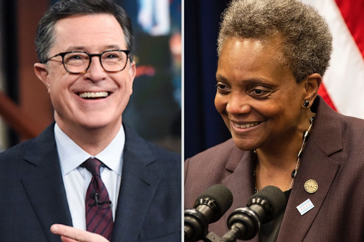 After joking with Colbert, Lightfoot tells LGBTQ donors in New York, 'this is no time for defeatism'
