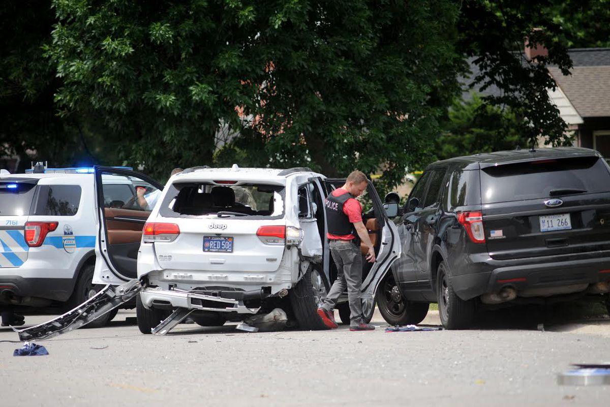 Chicago police investigate a fatal crash involving a stolen vehicle