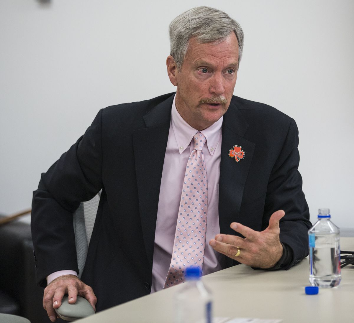 """""""I don't want to get too dramatic but [there are] metaphors for life,"""" Bears Chairman George McCaskey said of football in a meeting with the Sun-Times Editorial Board in 2015. """"Picking yourself up when you get knocked down, never giving up.""""   Rich Hein/"""