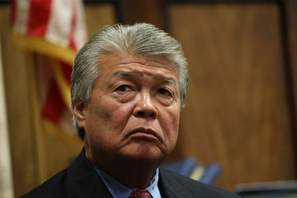 Retired Chicago Police detective Kriston Kato testifies at the trial of Jason Van Dyke in 2018. A special prosecutor will takeover post-conviction cases in which defendants allege Kato framed them. A Will County judge will hear eight cases, after the head criminal judge in Cook County asked to recuse herself and her peers from the case, because Kato is married to a judge.