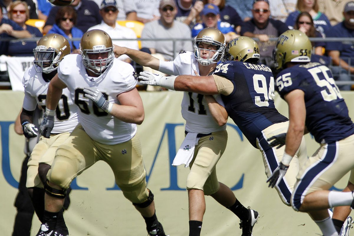 Pitt will have a mostly-new defensive line this year (Photo by Justin K. Aller/Getty Images)