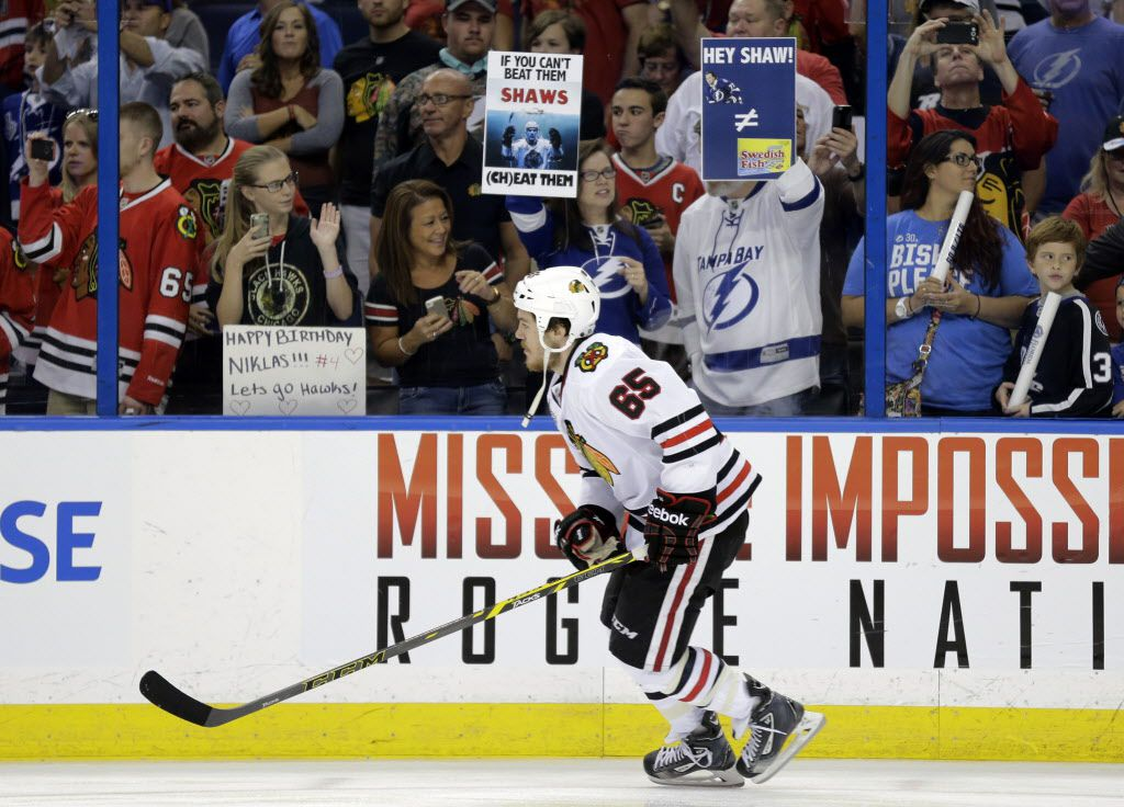 Tampa Bay fan takes a bite out of Andrew Shaw, Chicago - Chicago